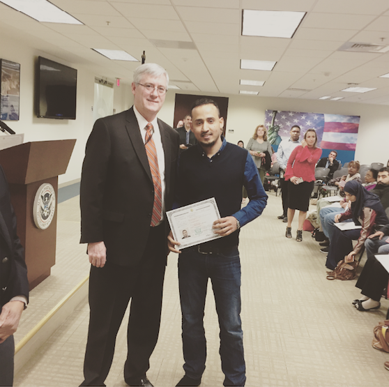 Citizenship Announcement: Congratulations, Anwar!