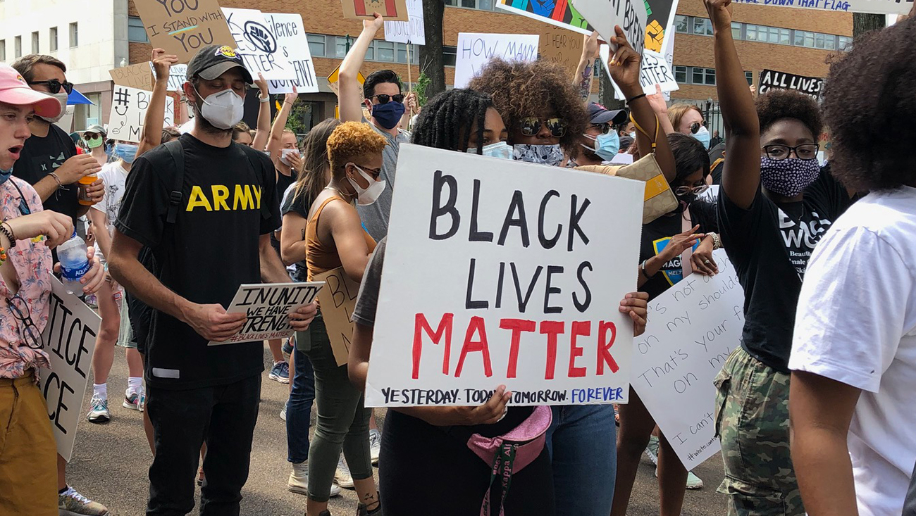 From June 6th, 2020 Protests in Jackson, Mississippi; photo by Patricia Ice